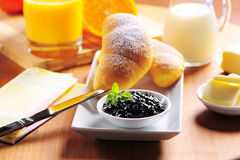 kontinental frukost Royaltyfria Bilder