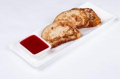 Kontinental frukost - rostat bröd, driftstopp Fotografering för Bildbyråer