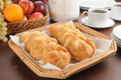 kontinental frukostbuffé Royaltyfri Bild