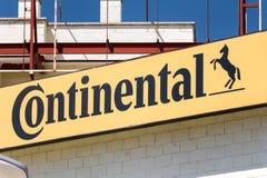 Kontinental logo på kontinentalt lager arkivfoto