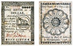 Kontinentaler Währungs-Dollar Lizenzfreies Stockbild