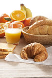 Kontinentales Frühstück Lizenzfreies Stockbild