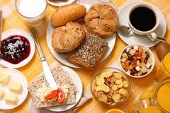 Kontinentales Frühstück Stockfotografie
