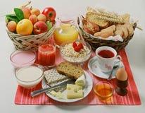 Kontinentales Frühstück Lizenzfreies Stockfoto