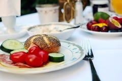 Kontinentales Frühstück im Hotel Lizenzfreies Stockfoto