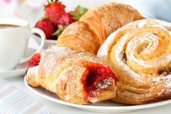 Kontinentales Frühstück Stockfoto