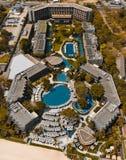 Kontinentalt hotell på strandhua hin arkivfoton