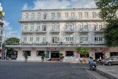 Kontinentalt legendariskt hotell, Saigon royaltyfri bild