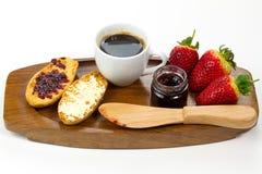 kontinentalt smakligt för frukost arkivbild