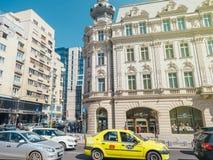kontinentalt storslaget hotell för 19th århundrade och blandning av kommunisten och mo Royaltyfri Foto