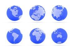 Kontinente. Lizenzfreies Stockfoto