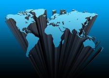 Kontinente 3d lizenzfreie abbildung