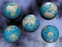 Kontinenter på jorden - 3D framför Royaltyfri Foto