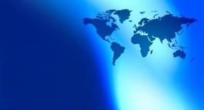 Kontinentvärldskarta och abstrakt begreppbakgrund Arkivfoto
