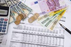 kontoårsbudget i regeringsställning dollar arkivfoto