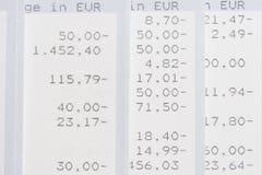 Kontoanweisungen Lizenzfreies Stockfoto