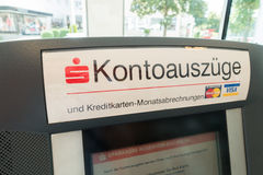 Kontoauzüge Royalty Free Stock Photography