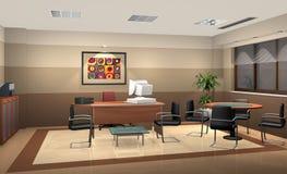 kontor 3d royaltyfri illustrationer
