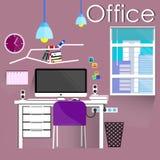 kontor stock illustrationer