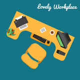 Kontor eller freelancerarbetsplats vektor illustrationer