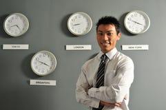 kontor för 48 affärsklockor Royaltyfri Foto