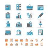 kontor för affärsfinanssymboler stock illustrationer