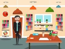 kontor för affärsman Arkivbild