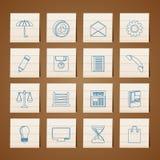 kontor för affärssymbolsinternet vektor illustrationer
