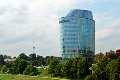 Kontor för Barclays bank i den Vilnius staden Arkivfoto