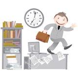 kontor för dagslutlivstid royaltyfri illustrationer