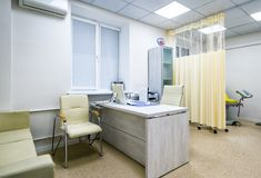 Kontor för doktors` s av gynekologen Royaltyfria Foton