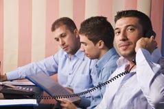 kontor för män för affärslivstid Royaltyfria Bilder