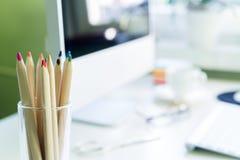 kontor för redovisningsaffärsidéskrivbord Fotografering för Bildbyråer