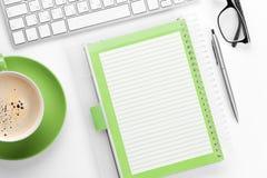 kontor för redovisningsaffärsidéskrivbord arkivfoto