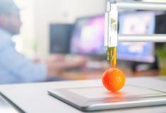 kontor för skrivare 3D arkivbild