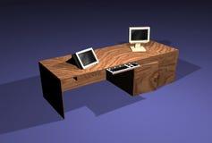 kontor för skrivbord 3d stock illustrationer