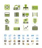 kontor för symboler för gruppaffärsfinans vektor illustrationer