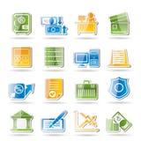 kontor för symboler för gruppaffärsfinans stock illustrationer