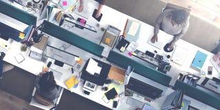 Kontor för affärsfolk som arbetar företags Team Concept Arkivfoto