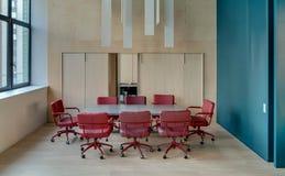 Kontor i modern stil Arkivbild