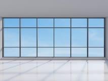 Kontor med det stora fönstret Royaltyfri Fotografi