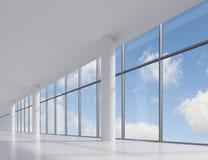 Kontor med det stora fönstret royaltyfri illustrationer