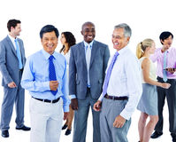 Kontor Team Concept för företags kommunikation för affärsfolk Fotografering för Bildbyråer