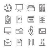 Kontoret bearbetar symbolen Arkivfoton
