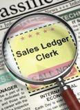 Kontorist Join Our Team för försäljningshuvudbok 3d Arkivbild