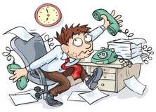 kontorsarbetare stock illustrationer