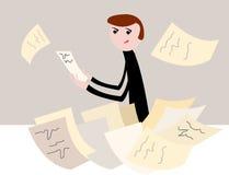 kontorsarbetare vektor illustrationer