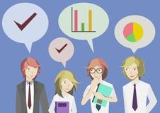 Kontorsarbetare pratar Arkivbild
