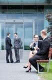 Kontorsarbetare under lunchtid Fotografering för Bildbyråer