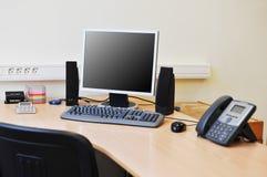 kontorsarbetsplats Arkivfoto